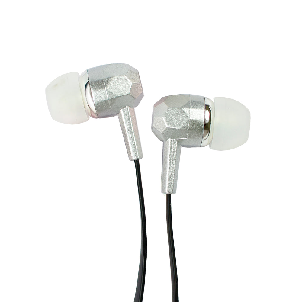 Crossloop Wired Earphones In Black & Silver