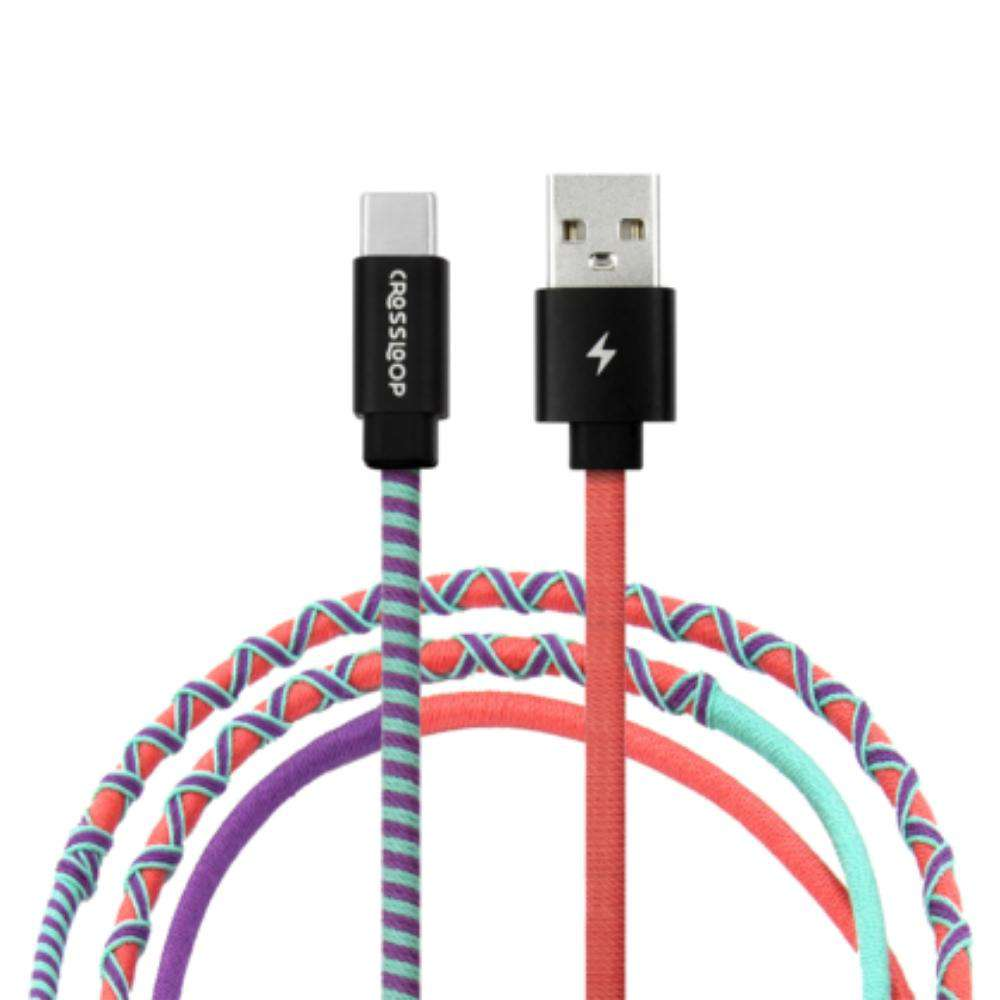 Crossloop Fast Charging Type C Cable in Apple Candy Red Purple