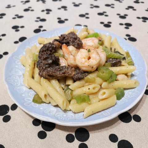 Morel Shrimp Macaroni