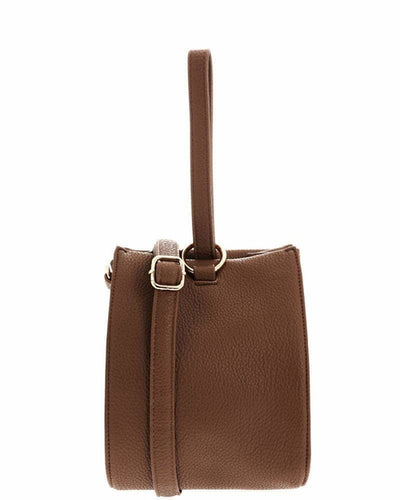 Hand Strap Taupe Bucket Bag - THANKSNET