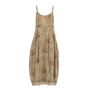 Long dress with floral print - THANKSNET