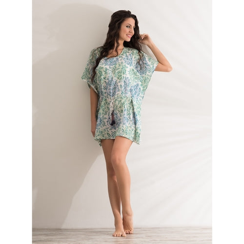 Mini kaftan cool paisley dress - THANKSNET