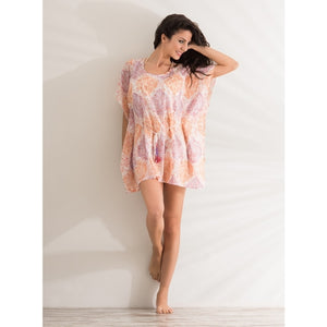 Mini Kaftano bright paisley dress - THANKSNET