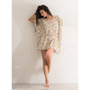 Mini kaftan golden leaves dress - THANKSNET