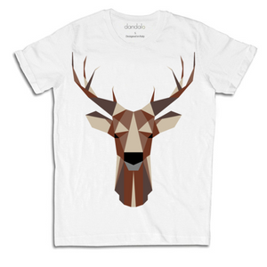 "T-Shirt Uomo ""Geometric Deer"" - THANKSNET"