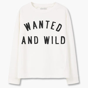 "Sweatshirt ""Wanted and Wild"" - THANKSNET"