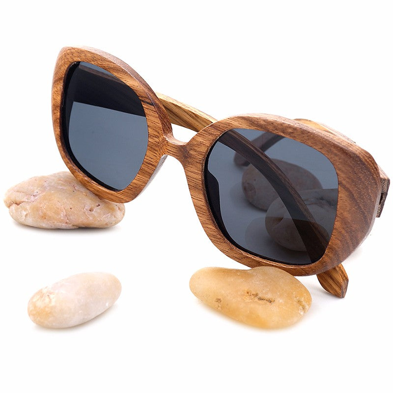 Vintage Zebra Wood Sunglasses Polarized UV400 新款男女士復古斑馬木製太陽鏡 - THANKSNET