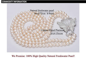 Long Pearl Butterfly Necklace - THANKSNET