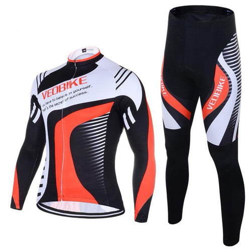 Men's Bicycle Clothing Long Sleeve Jersey Gel Pad Pants Ropa Ciclismo - THANKSNET