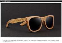 Wooden Sunglasses Retro Polarized  HAND MADE 100% UV Protection 適合男女士配戴的太陽鏡, - THANKSNET