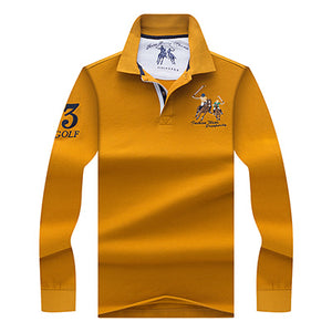 High Quality Polo 3D Embroidery Poloshirt Casual Polo Shirts winter - THANKSNET