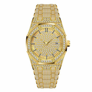 Full Cubic Zirconia Drill Wristwatch - THANKSNET