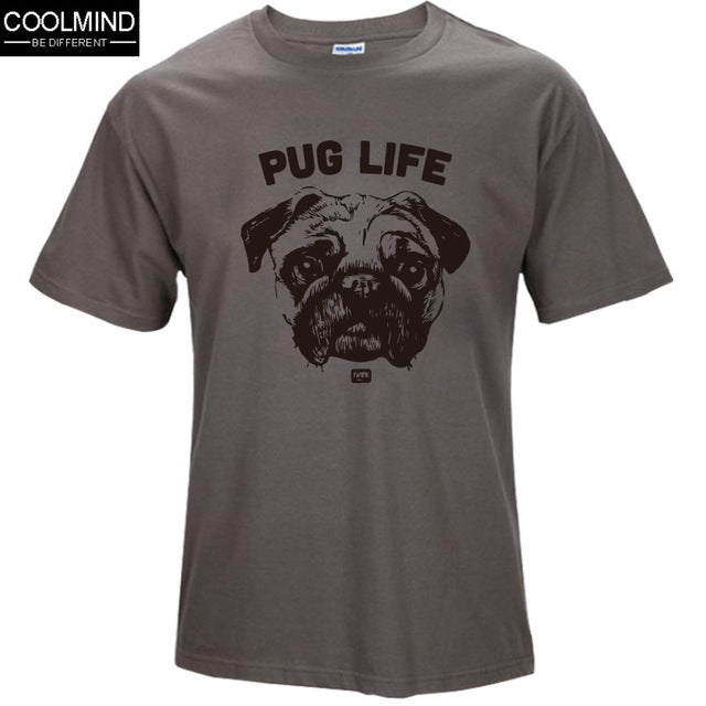 cotton casual pug life  t shirts