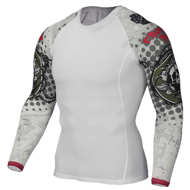 Fitness 3D Prints Long Sleeves T Shirt