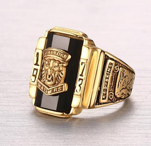 Men's Rock Punk Gold  Ring