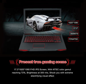 "Bben 17.3"" Windows 10 Laptop Gaming Computer I7-7700HQ CPU NVIDIA GTX1060 6GB No Ram No Rom GDDR5 Vedio Card BT4.0 RJ45 USB Port"