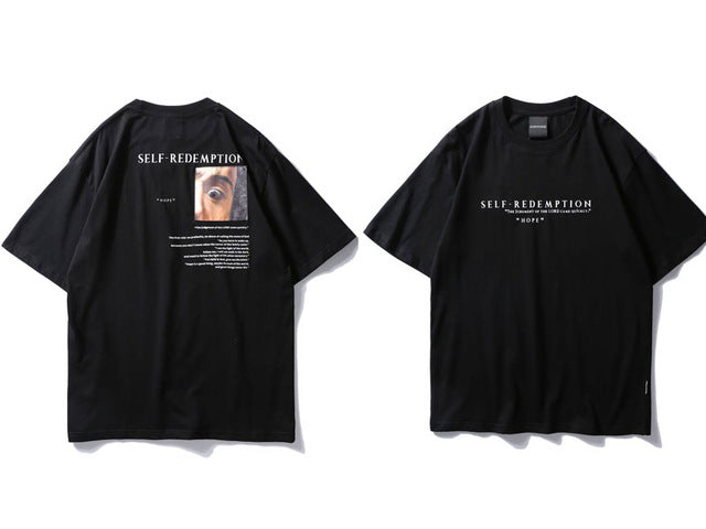 Self Redemption Patchwork Printed T-Shirt 2018