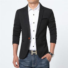 A button buckle casual suit jacket