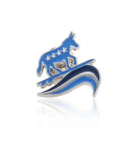 "FREE Democratic ""Blue Wave"" Lapel Pin"