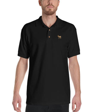 Special Edition Gold Democratic Logo Embroidered Polo Shirt