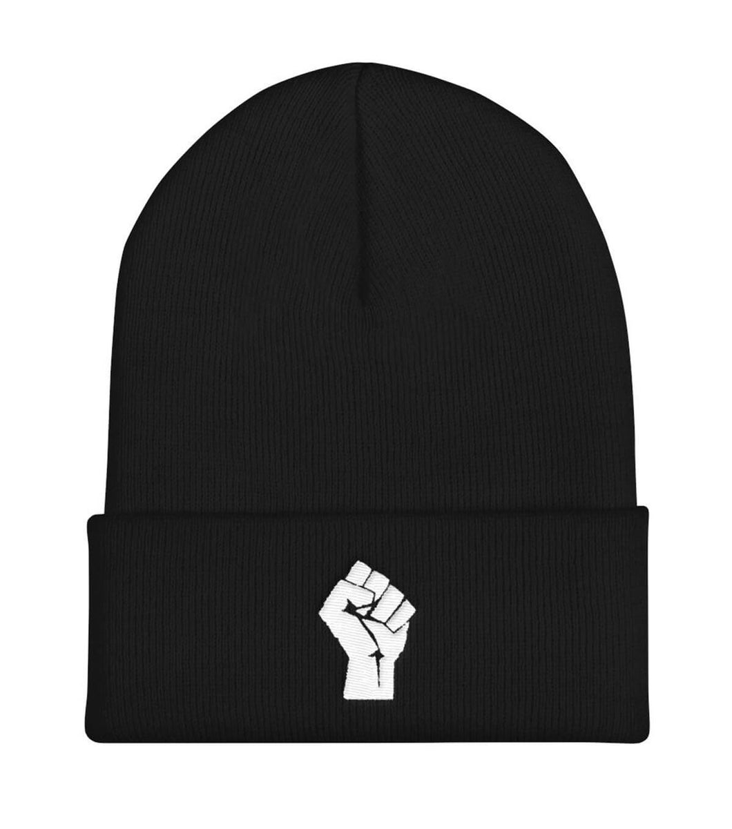 Black/White Resist Logo Beanie