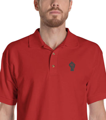 Red/Black Resist Logo Polo Shirt