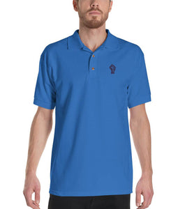 Royal/Navy Resist Logo Polo Shirt