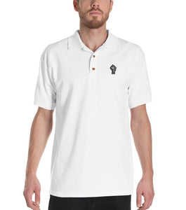 White/Black Resist Logo Polo Shirt