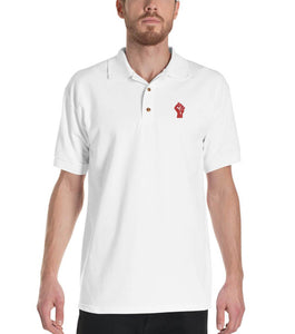 White/Red Resist Logo Polo Shirt