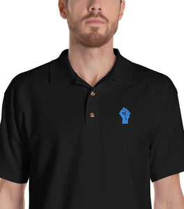 Black/Blue Resist Logo Polo Shirt