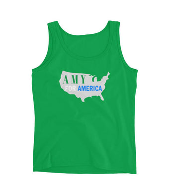 Green Amy For America Women's Tank