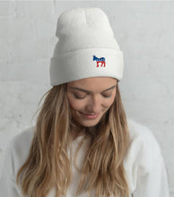 Democratic Donkey Cuffed Beanie