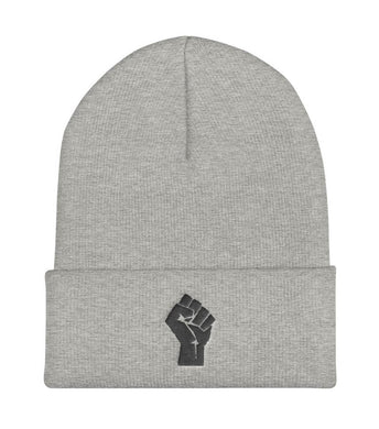 Grey/Black Resist Logo Beanie
