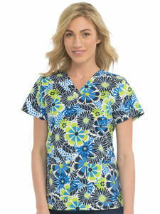 8479 V-NECK NIKI PRINT TOP