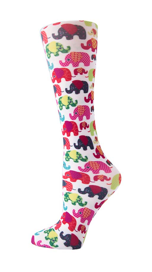 Cutieful Therapeutic Graduated 8-15 mmHG Compression Socks - Elephants