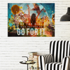 Image of Home Decor Wall Art: Be The Girl Who Decided To Go For It
