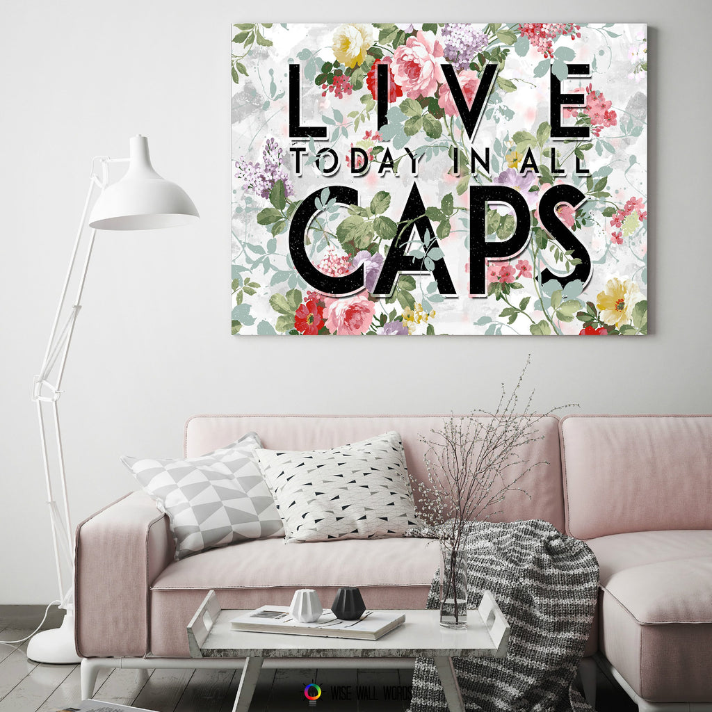 ... Home Decor Wall Art: Live In All Caps ...