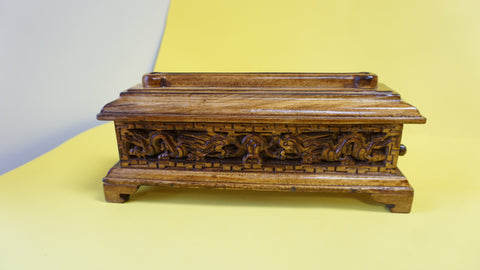 Small Classic Auspicious Wooden Incense Burner