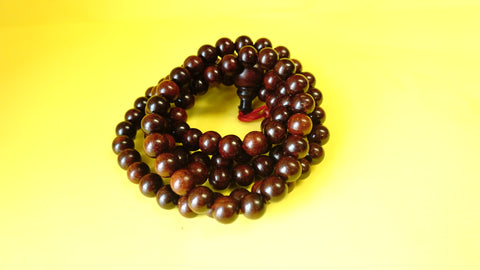 Large Red Sandelwood Mala Beads