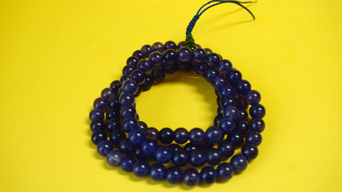 Large Purple Assorted Lapis Glass Mala.