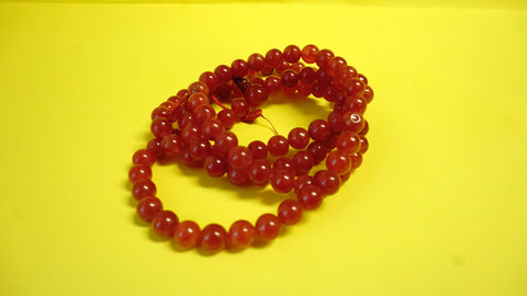 Red Assorted Glass Lapis Mala