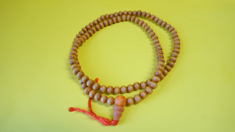Orange Wooden Bead.