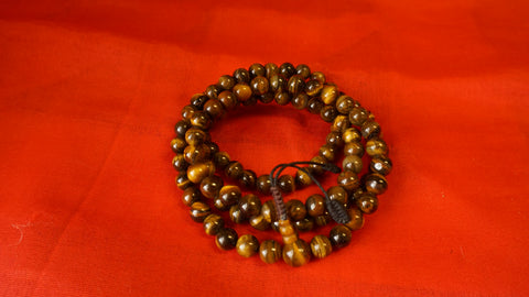 Large Light Brownish Smooth Glass Mala comes with 108 beads, hand-made from Nepal.