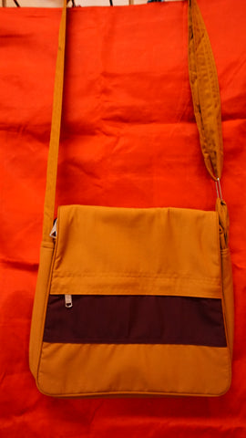 Large Gold and Maroon Bag