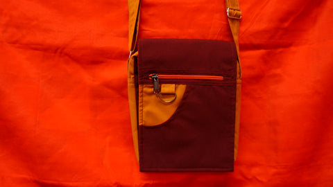 Medium Gold and Maroon Bag