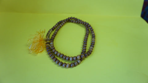 Small Yellow Sandelwood mala.