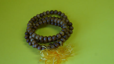 Yellow Sandelwood Mala Beads
