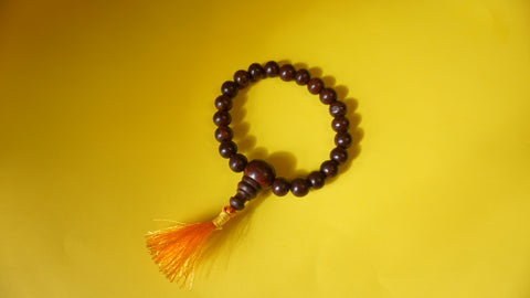 Stretchable Red Sandelwood wrist mala.