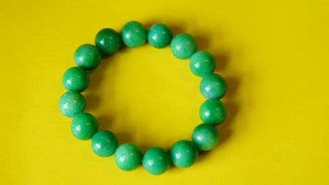 Stretchable Green Sparkle Semi-Precious stone wrist mala.