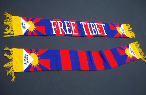 FREE TIBE,  Long Scarf with Tibet Flag emblem